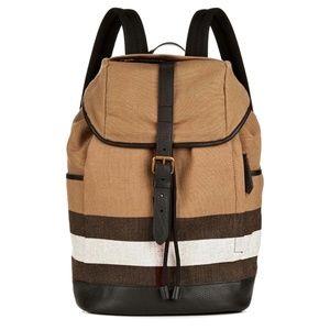 New Burberry Drifton House Check Backpack